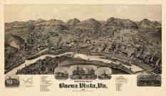 Buena Vista 1891 Bird's Eye View 17x28, Buena Vista 1891 Bird's Eye View